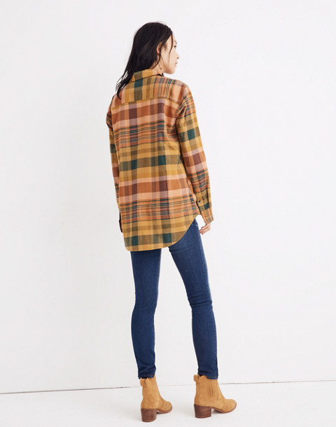 Flannel Sunday Shirt in Seconda Plaid in egyptian gold image 3