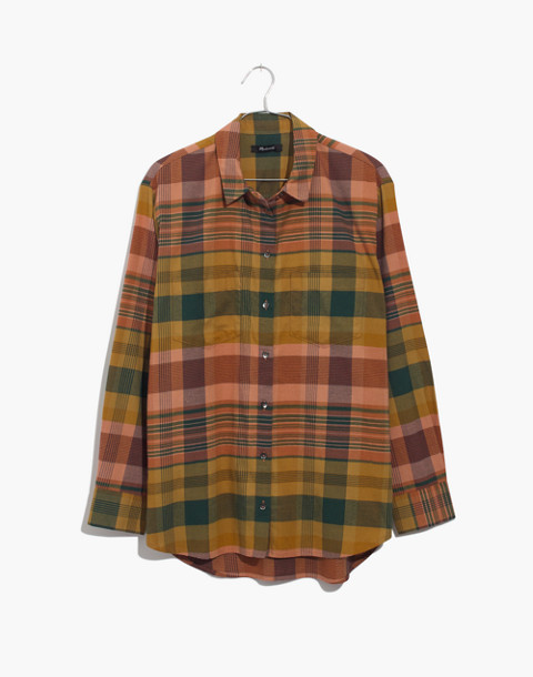 Flannel Sunday Shirt in Seconda Plaid in egyptian gold image 4