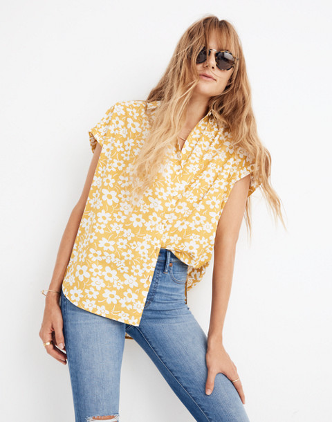 Central Shirt in Full Bloom in retro floral mystic yellow image 2