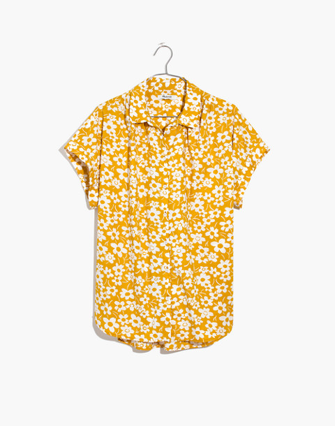 Central Shirt in Full Bloom in retro floral mystic yellow image 4