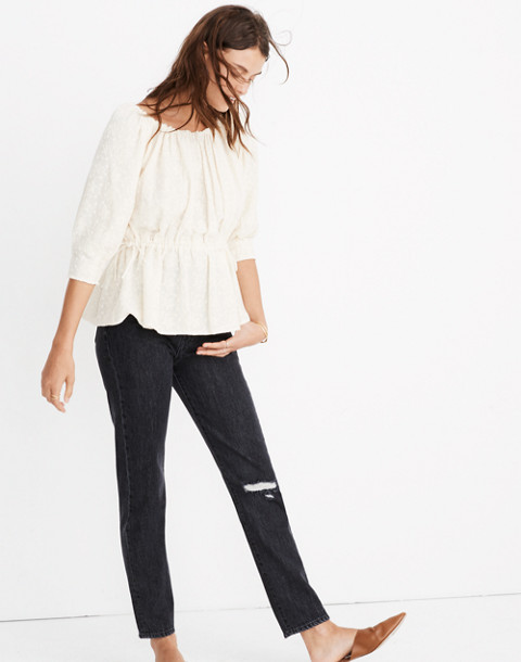 Caron Callahan™ Lace Judith Top in ivory image 2