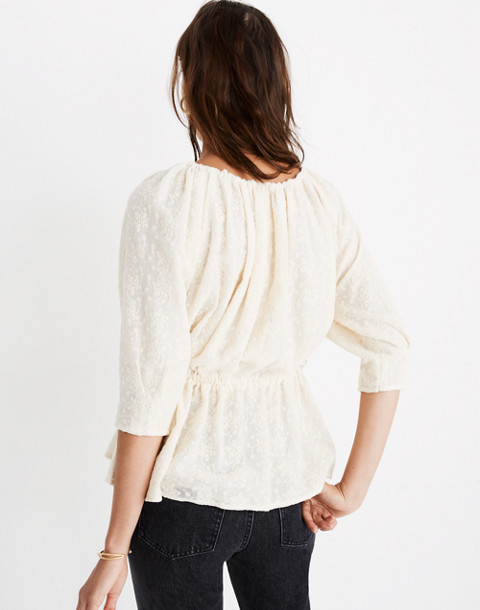 Caron Callahan™ Lace Judith Top in ivory image 3