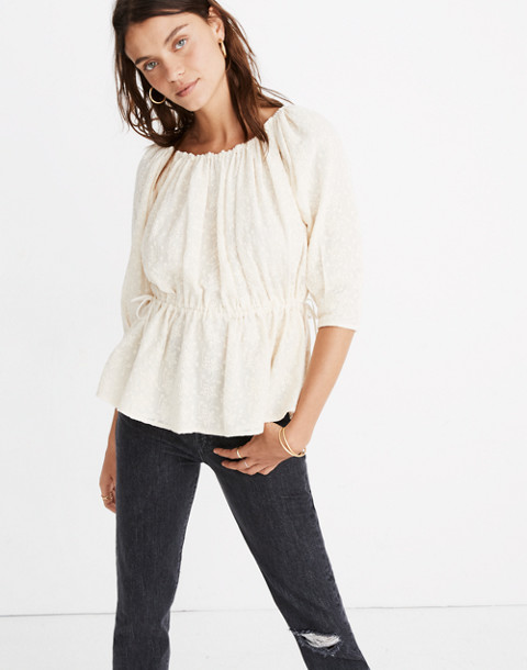 Caron Callahan™ Lace Judith Top in ivory image 1