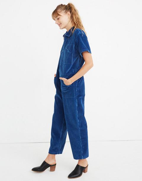 Caron Callahan™ Corduroy Foster Zip Jumpsuit in indigo image 2