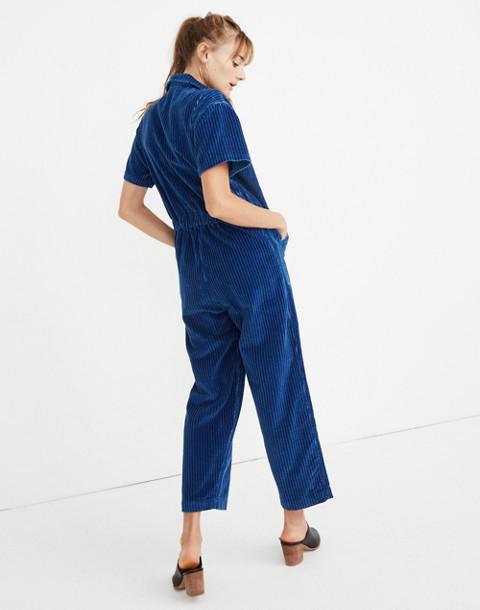 Caron Callahan™ Corduroy Foster Zip Jumpsuit in indigo image 3