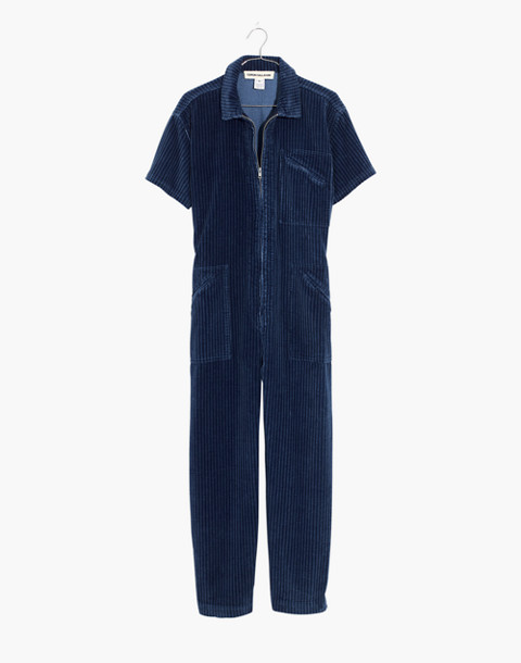 Caron Callahan™ Corduroy Foster Zip Jumpsuit in indigo image 4