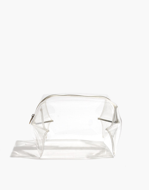 Large Crystalline Travel Bag in clear image 1