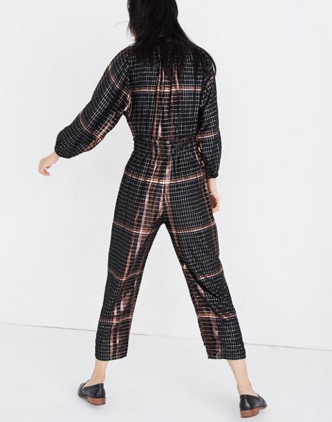 Apiece Apart™ Plaid Quinty Jumpsuit in catharina lurex plaid image 3