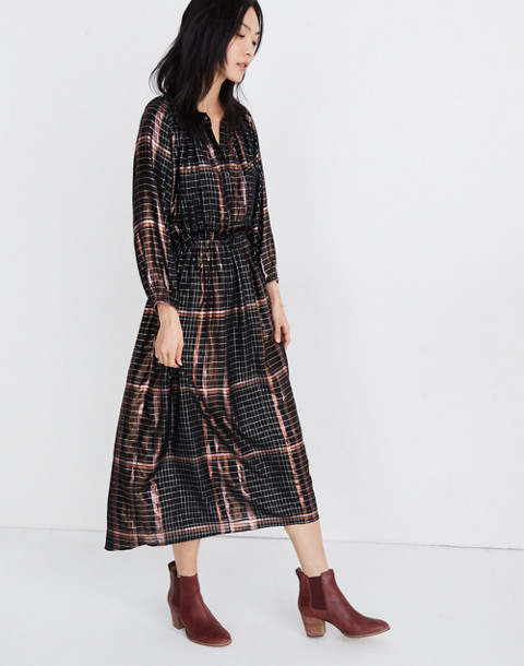 Apiece Apart™ Plaid Valentijn Dress in catharina lurex plaid image 2