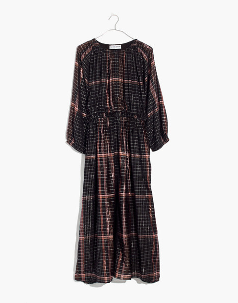 Apiece Apart™ Plaid Valentijn Dress in catharina lurex plaid image 4
