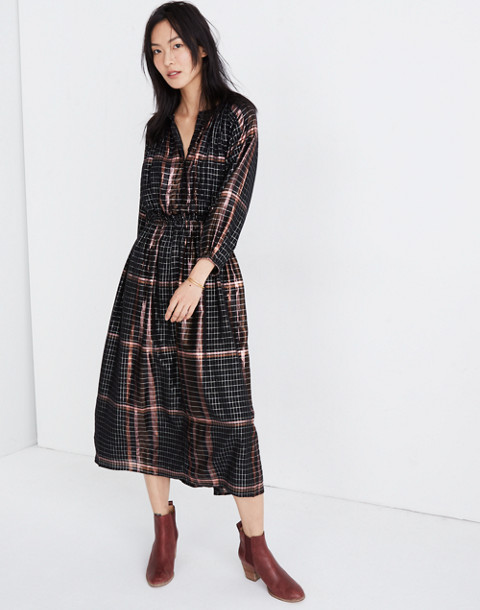 Apiece Apart™ Plaid Valentijn Dress in catharina lurex plaid image 1