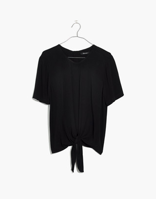 Button-Back Tie Tee
