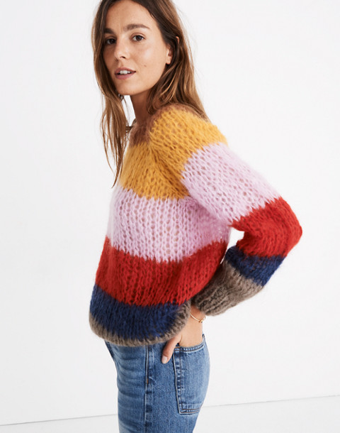 Madewell x Maiami Striped Sweater in multi color image 3