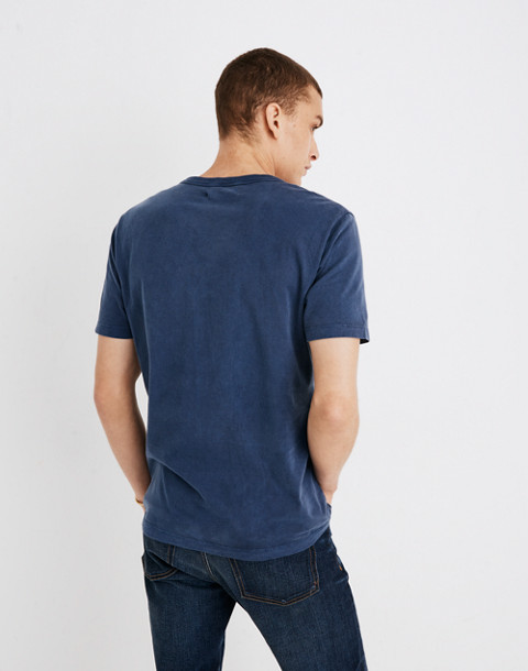 Garment-Dyed Daily Crewneck Pocket Tee in blue night image 3