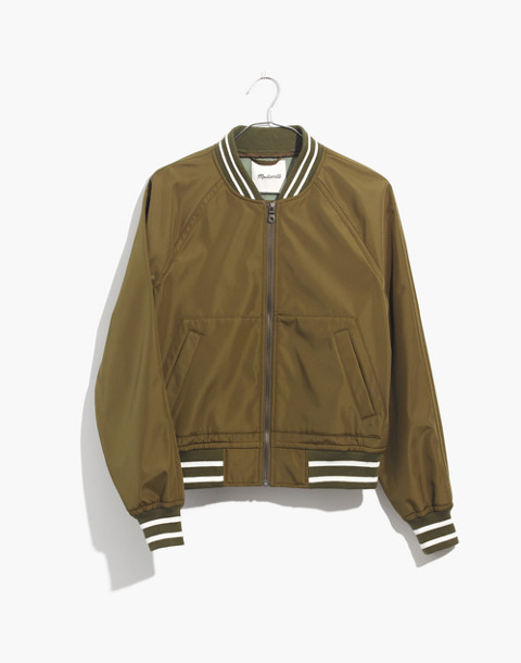 Varsity Bomber Jacket in military surplus image 4
