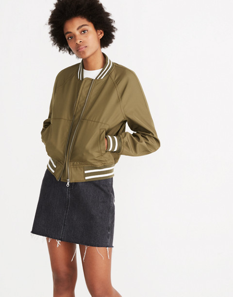 Varsity Bomber Jacket in military surplus image 1