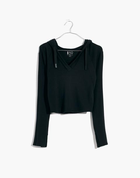 Splits59™ Halfback Crop Hoodie Sweatshirt in black image 4
