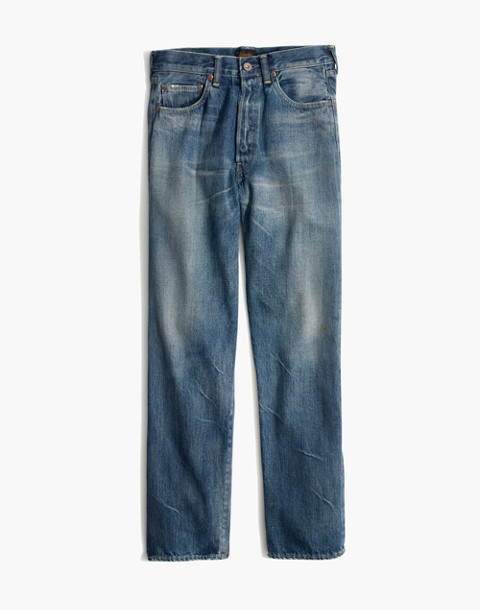 Chimala® Selvedge Straight Cut Jeans in medium vintage image 1