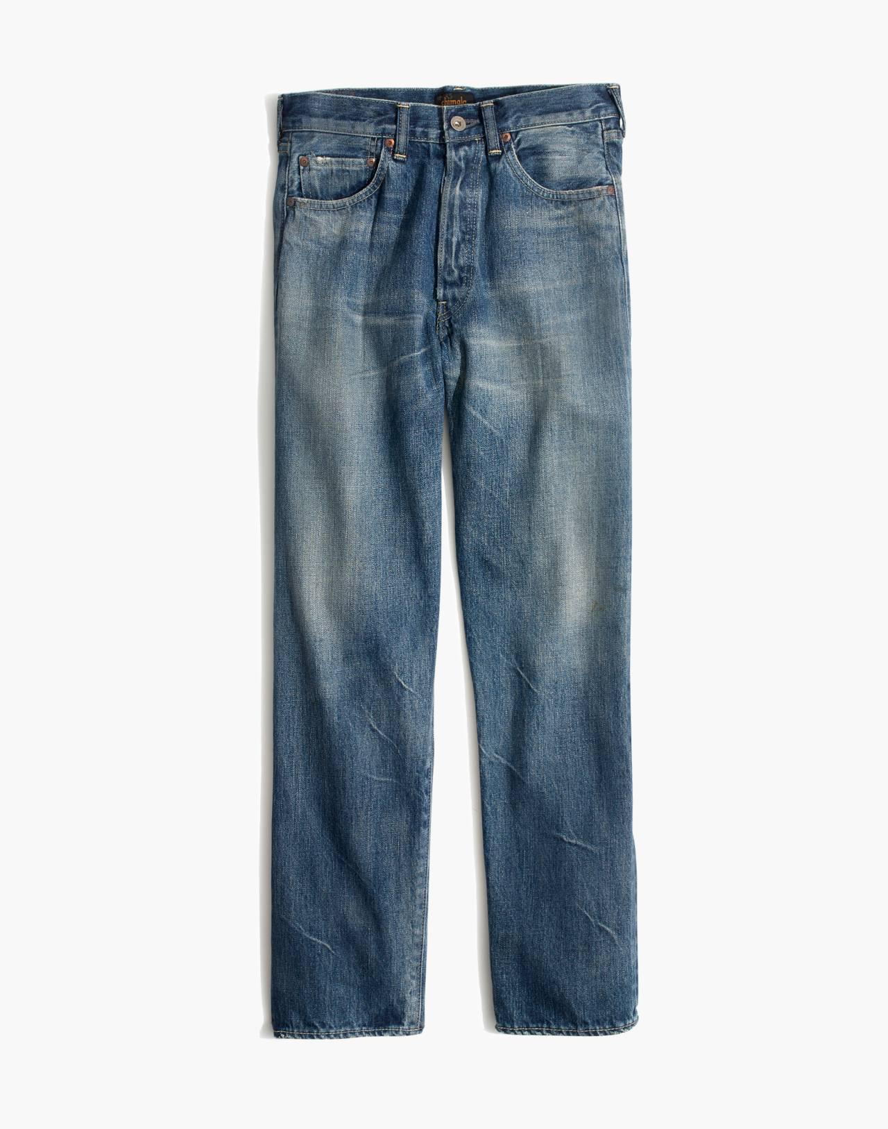 Chimala® Selvedge Straight Cut Jeans in medium vintage image 1