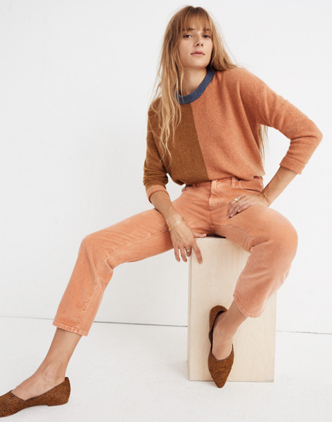 The High-Rise Slim Boyjean: Corduroy Edition in dried coral image 2