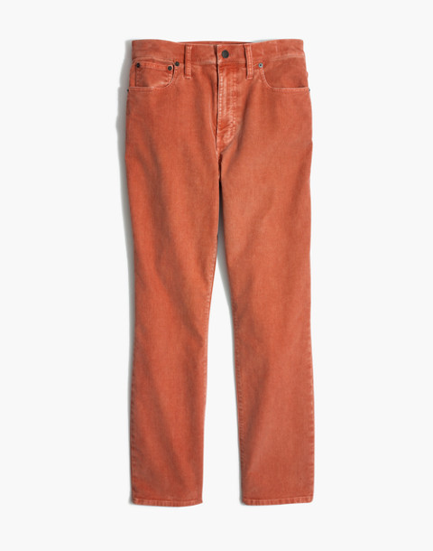 The High-Rise Slim Boyjean: Corduroy Edition in dried coral image 4