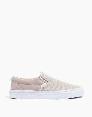 Vans® Unisex Classic Slip-On Sneakers in Moonbeam Suede in moon beam image 3