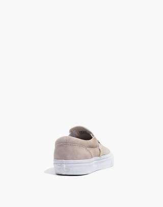 Vans® Unisex Classic Slip-On Sneakers in Moonbeam Suede in moon beam image 4