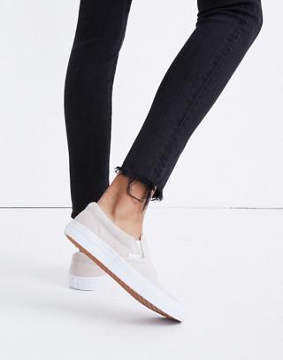 Vans® Unisex Classic Slip-On Sneakers in Moonbeam Suede in moon beam image 2