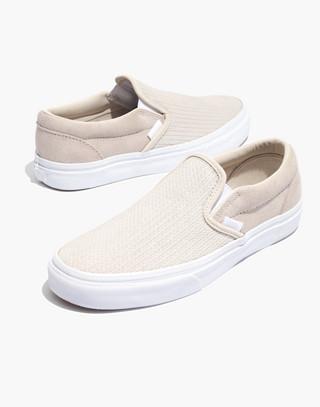 Vans® Unisex Classic Slip-On Sneakers in Moonbeam Suede in moon beam image 1