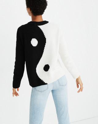 Yin-Yang Pullover Sweater in true black image 3