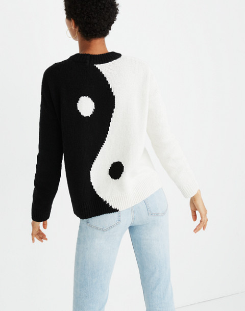 Yin-Yang Pullover Sweater in true black image 3