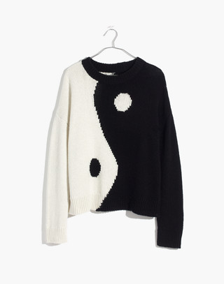 Yin-Yang Pullover Sweater in true black image 4
