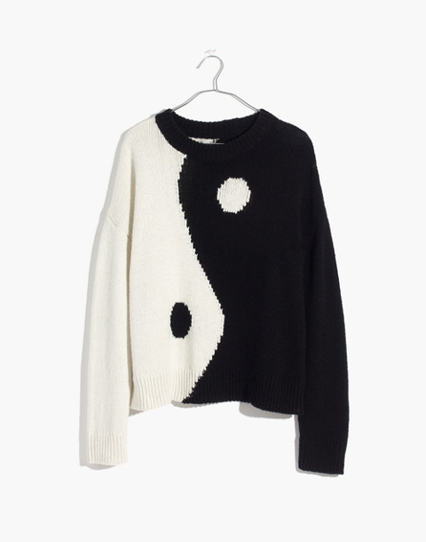 Yin-Yang Pullover Sweater in true black image 4
