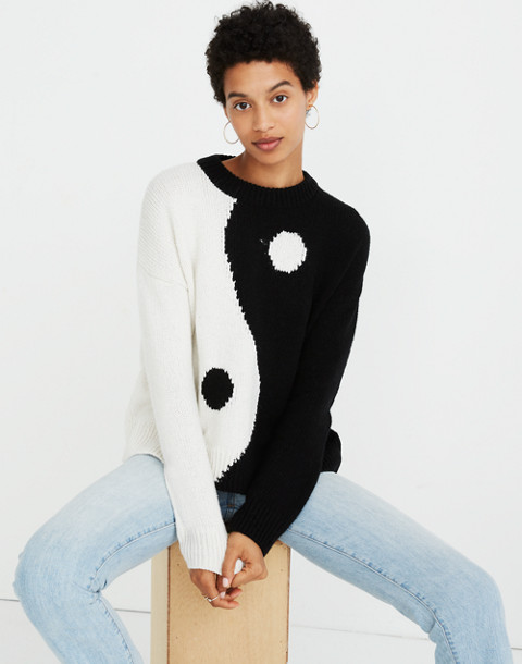 Yin-Yang Pullover Sweater in true black image 1