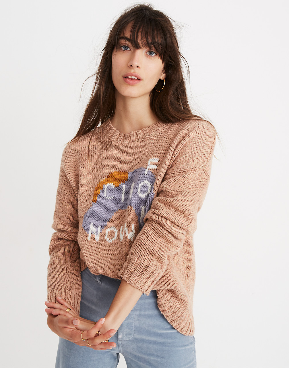 Ciao For Now Pullover Sweater in heather rosewater image 1