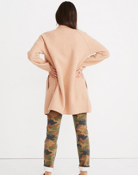 Bomber Sweater-Jacket in bright apricot image 2