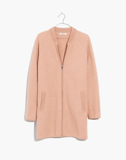 Bomber Sweater-Jacket in bright apricot image 4