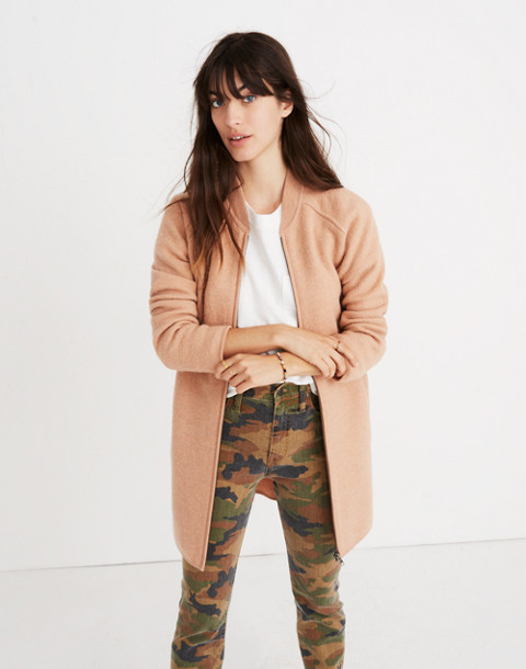 Bomber Sweater-Jacket in bright apricot image 1