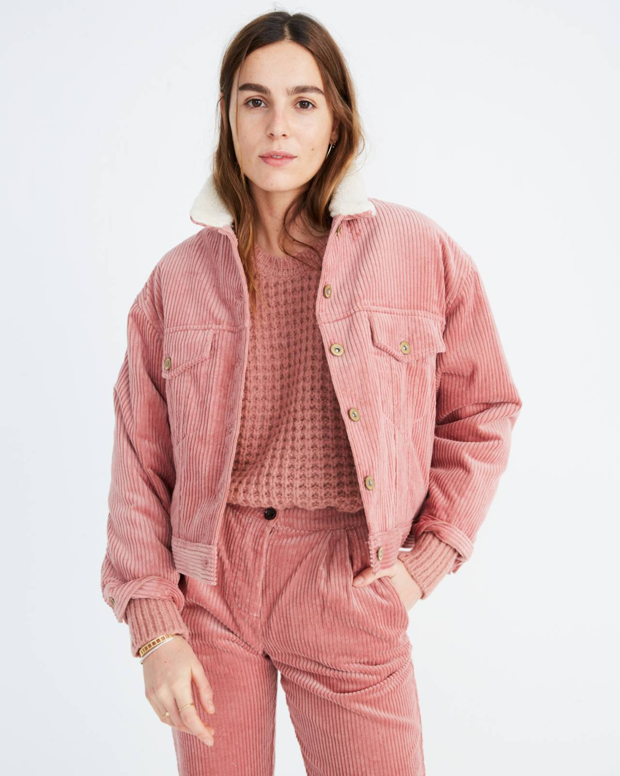 Sess�n™ Corduroy Ginetta Jacket in misty rose rocco image 2