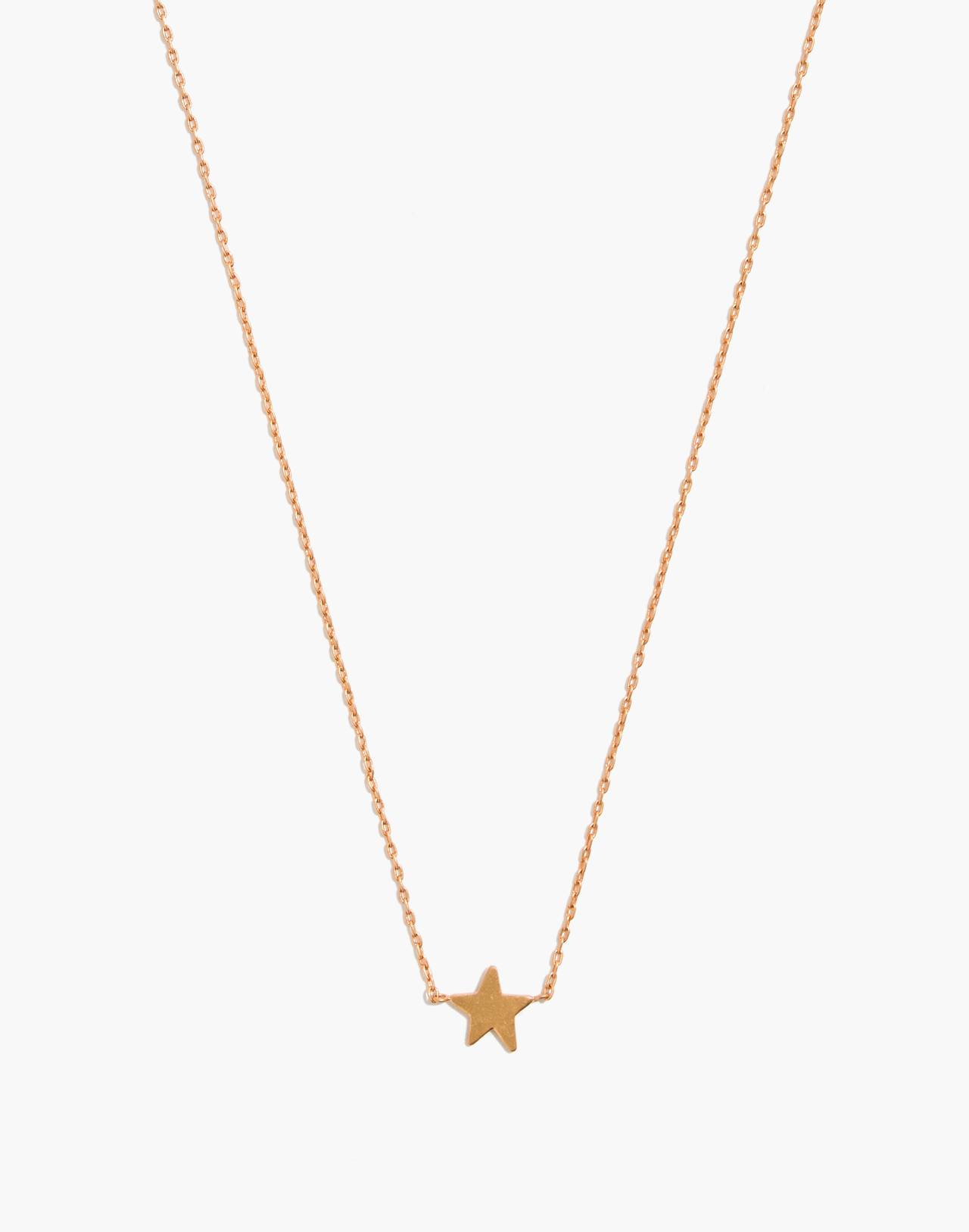 Mini Star Necklace in vintage gold image 1