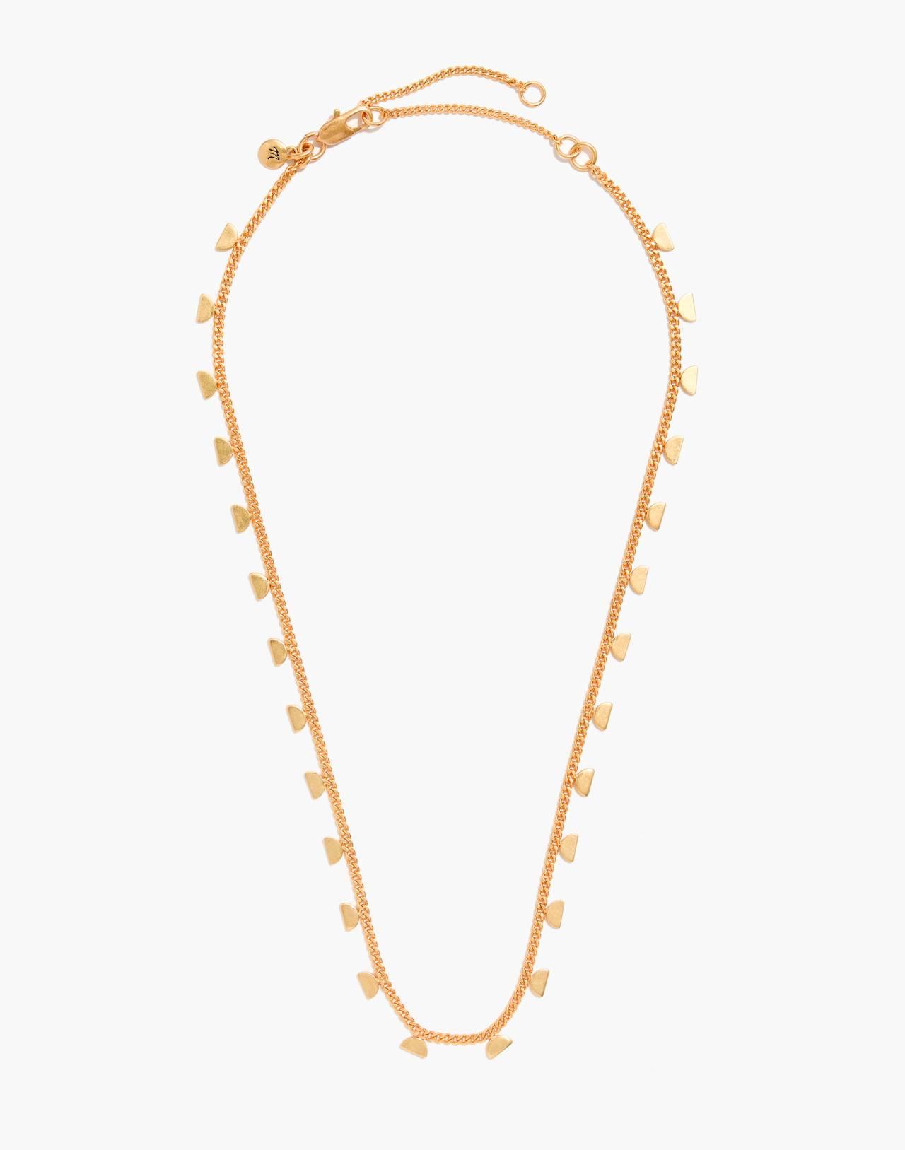 Moonlit Charm Necklace in vintage gold image 2