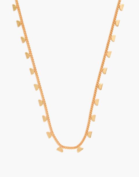 Moonlit Charm Necklace in vintage gold image 1