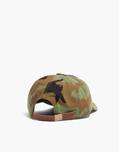 Canvas Baseball Cap in Cottontail Camo in camo image 2