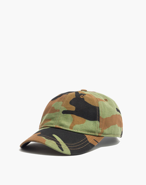 Canvas Baseball Cap in Cottontail Camo in camo image 1