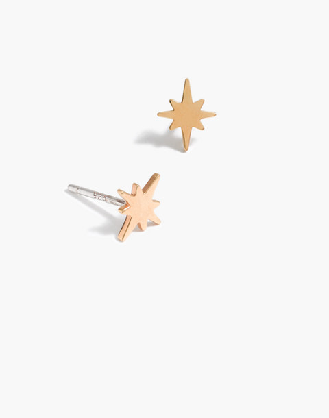 Vermeil Bright Star Stud Earrings in vermeil image 1