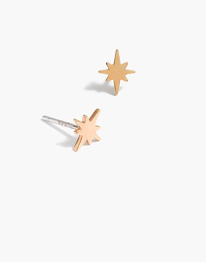 Vermeil Bright Star Stud Earrings
