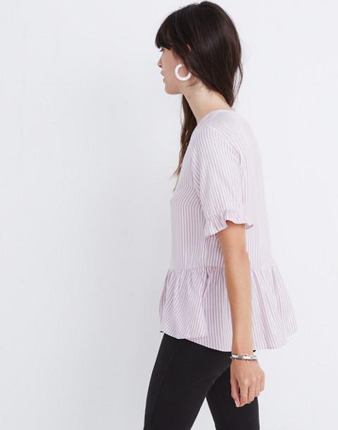 Studio Ruffle-Hem Top in Lavender Stripe in serene lavender image 1