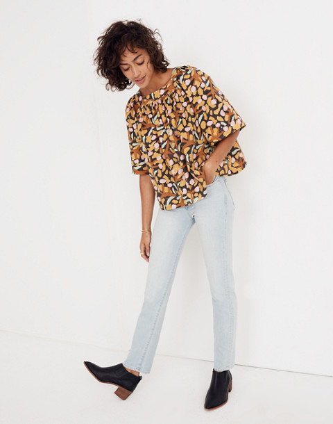 Whit® Mira Top in Elderberry Print in multi mustard image 2