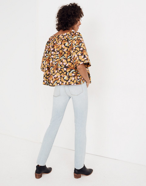 Whit® Mira Top in Elderberry Print in multi mustard image 3