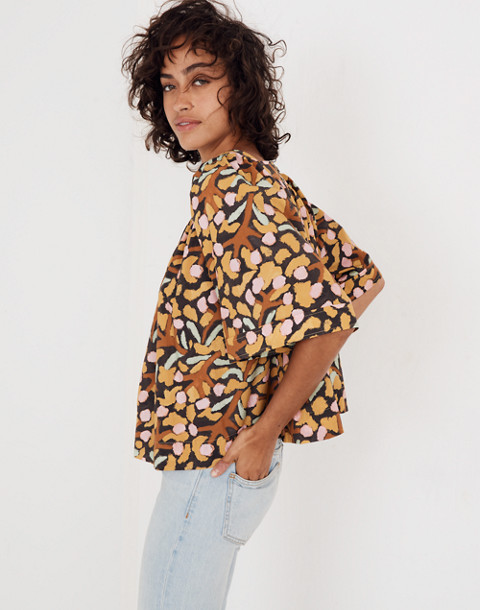 Whit® Mira Top in Elderberry Print in multi mustard image 1